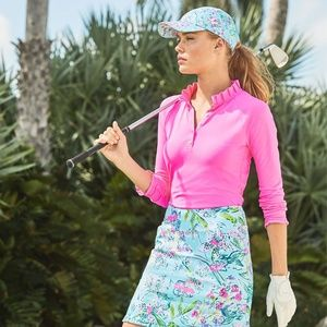 NWT Lilly HUTTON Polo Pink Tropics